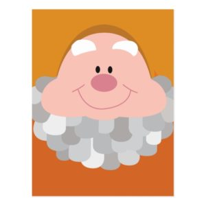 Seven Dwarfs - Happy Character Body Postcard