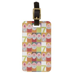 Seven Dwarfs Stylized Character Art Luggage Tag