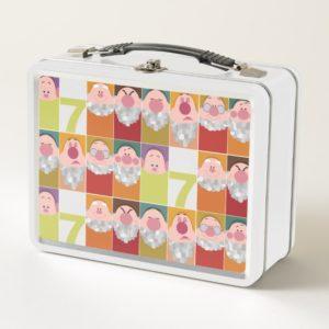 Seven Dwarfs Stylized Character Art Metal Lunch Box