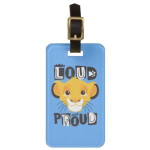 Simba   Loud And Proud Bag Tag