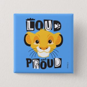 Simba | Loud And Proud Pinback Button