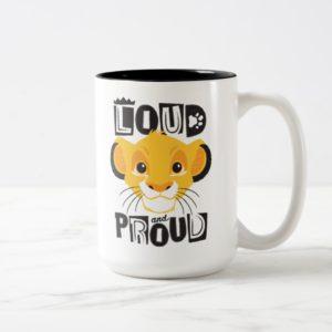 Simba   Loud And Proud Two-Tone Coffee Mug