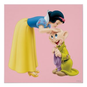 Snow White Kissing Dopey on the Head Poster