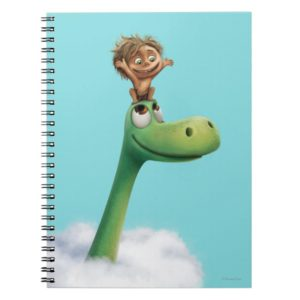 Spot And Arlo Head In Clouds Notebook