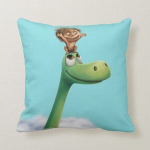 Spot And Arlo Head In Clouds Throw Pillow