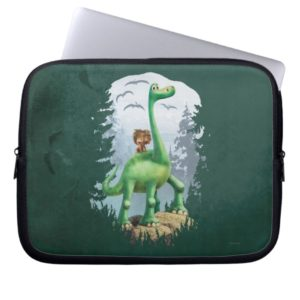 Spot And Arlo In Forest Computer Sleeve