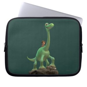 Spot And Arlo On Rock Laptop Sleeve