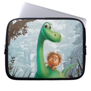 Spot And Arlo Walking Through Forest Laptop Sleeve