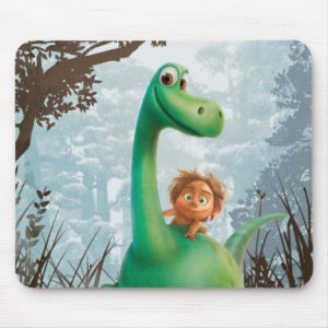 Spot And Arlo Walking Through Forest Mouse Pad