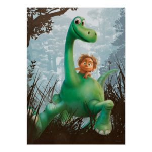 Spot And Arlo Walking Through Forest Poster