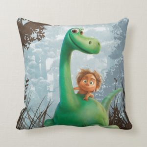 Spot And Arlo Walking Through Forest Throw Pillow