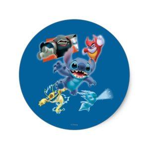 Stitch and Friends Classic Round Sticker