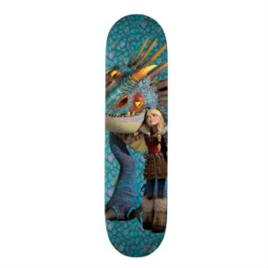 Stormfly And Astrid Skateboard Deck