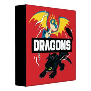 """Stormfly & Toothless """"Dragons"""" Graphic 3 Ring Binder"""