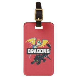 "Stormfly & Toothless ""Dragons"" Graphic Bag Tag"