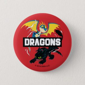 """Stormfly & Toothless """"Dragons"""" Graphic Button"""
