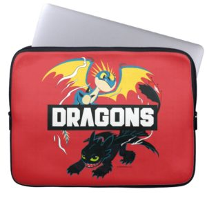 """Stormfly & Toothless """"Dragons"""" Graphic Computer Sleeve"""