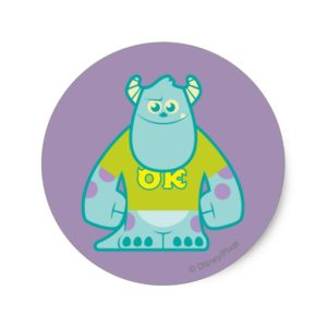 Sulley 2 classic round sticker