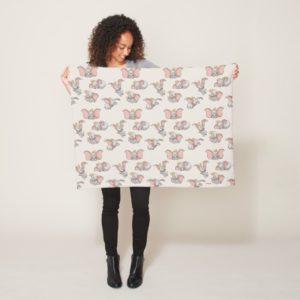Sweet Dumbo Pattern Fleece Blanket