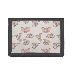 Sweet Dumbo Pattern Trifold Wallet
