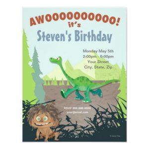 The Good Dinosaur Birthday Invitation