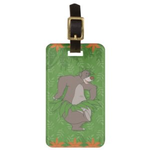 The Jungle Book Baloo with Grass Skirt Bag Tag