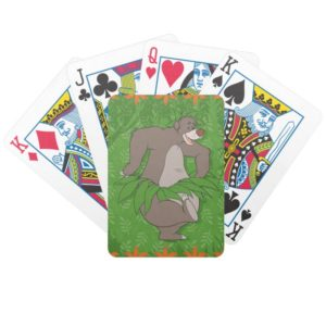 The Jungle Book Baloo with Grass Skirt Bicycle Playing Cards