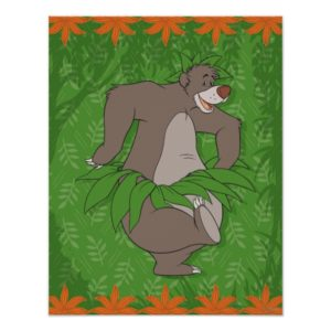 The Jungle Book Baloo with Grass Skirt Poster
