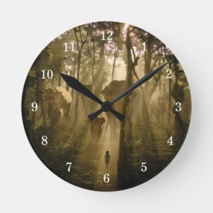 The Jungle Book Elephants Round Clock