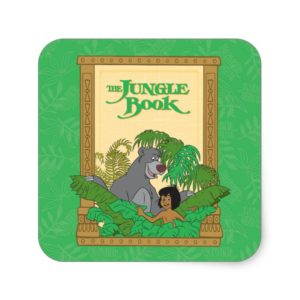 The Jungle Book - Mowgli and Baloo Square Sticker