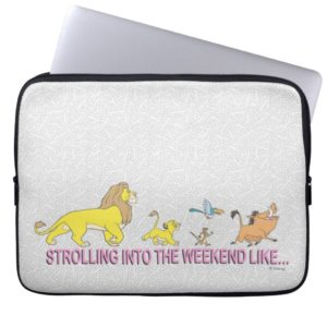The Lion King | Strolling into the Weekend Computer Sleeve
