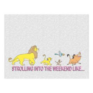The Lion King | Strolling into the Weekend Postcard