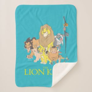 The Lion King   Title & Characters Sherpa Blanket