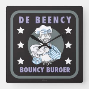 The Muppets   De Beency Bouncy Burger Logo Square Wall Clock