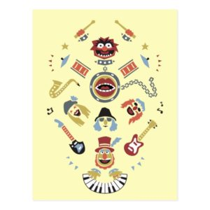 The Muppets Electric Mayhem Iconic Shape Graphic Postcard