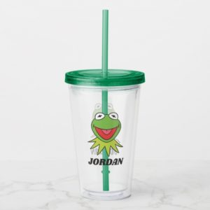 The Muppets Kermit the Frog Head | Add Your Name Acrylic Tumbler