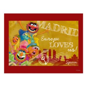The Muppets - Madrid, Spain Poster Postcard