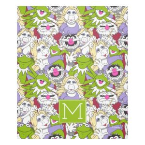 The Muppets | Monogram Oversized Pattern Fleece Blanket