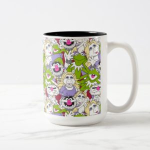 The Muppets   Oversized Pattern Two-Tone Coffee Mug