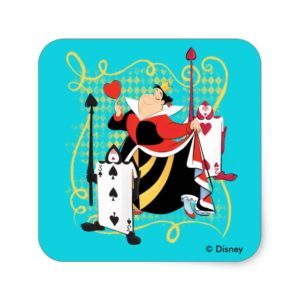 The Queen of Hearts | The Queen's Card Soldiers Square Sticker