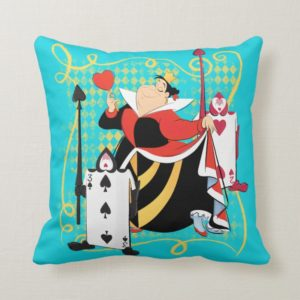 The Queen of Hearts | The Queen's Card Soldiers Throw Pillow