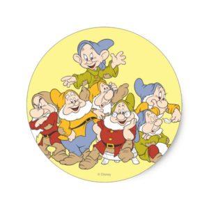 The Seven Dwarfs 4 Classic Round Sticker