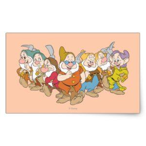 The Seven Dwarfs 6 Rectangular Sticker