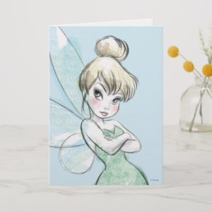 Tinker Bell | Arms Crossed Pastel Card