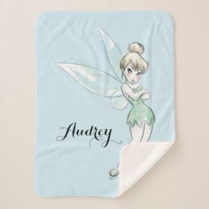 Tinker Bell | Arms Crossed Pastel | Name Sherpa Blanket