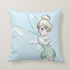 Tinker Bell | Arms Crossed Pastel Throw Pillow