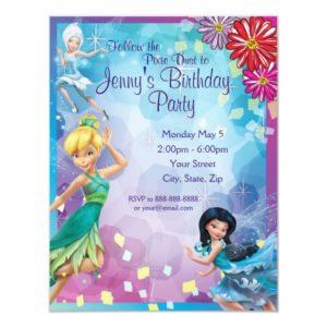 Tinker Bell Birthday Invitation