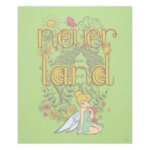 Tinker Bell in Neverland Forest Fleece Blanket