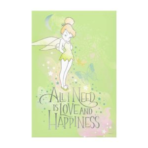 Tinker Bell Love And Happiness Canvas Print
