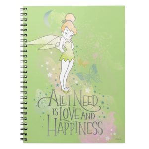 Tinker Bell Love And Happiness Notebook